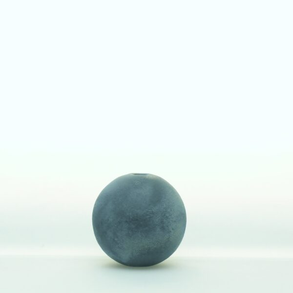 Pulvervase stahlblau